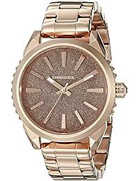 Diesel da donna in oro rosa con orologio al quarzo con Display analogico e braccialetto in acciaio INOX, colore: oro rosa DZ5502