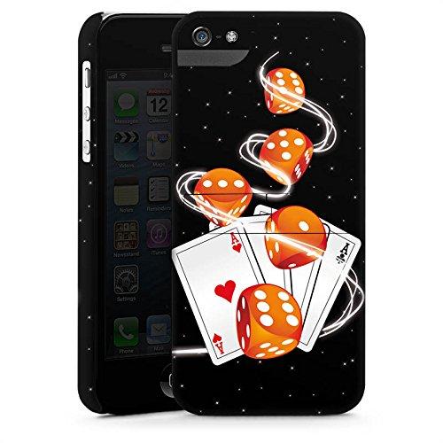 Apple iPhone X Silikon Hülle Case Schutzhülle Würfel Herz Karten Premium Case StandUp