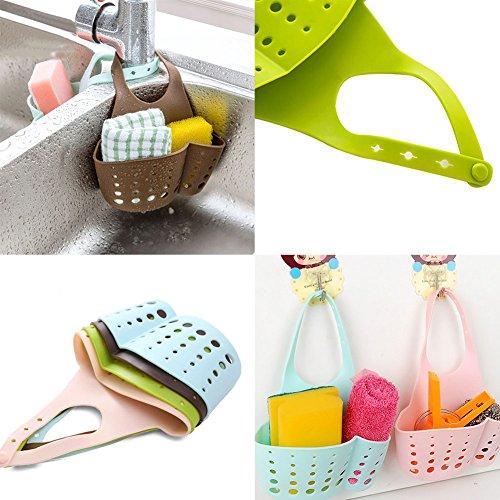 Einstellbare Hängende Aufbewahrungen für die Küchenspüle Schwamm