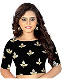 Vivan Trendz Banglori Silk new Readymade embroidery designer latest saree blouse.