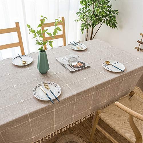 Brown Ovalen Esstisch (WESYYTischwäsche, ideal für Party, Catering, Vereinsfeier, GeburtstagLinen brown 60 x 60cm)