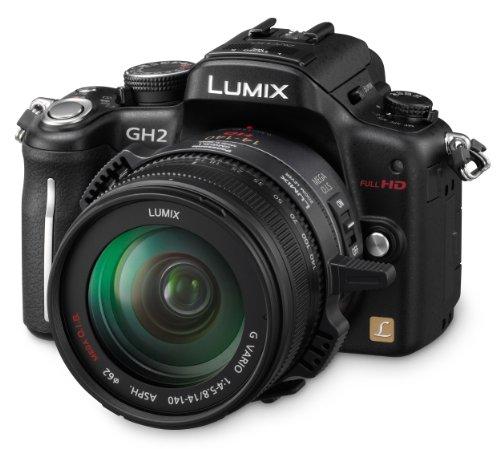 Panasonic Lumix DMC-GH2HEG-K Systemkamera (16 Megapixel, 7,6 cm (3 Zoll) Display, bildstabilisiert) matt-schwarz inkl. Lumix G Vario HD 14-140mm Objektiv (Gh2 Panasonic Kamera)