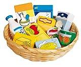 Goki 51713 - Kaufläden und Zubehör - Lebensmittel und Haushaltswaren im Korb