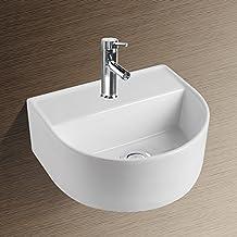 NEG Waschbecken Uno29H (halbrund) Hänge Waschschale/Waschtisch (weiß) Mit  Schmalem