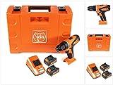 FEIN ABSU 12 C Akku Bohrschrauber 12V 20Nm 2-Gang + 2x Akku 2,5Ah + Ladegerät + Koffer