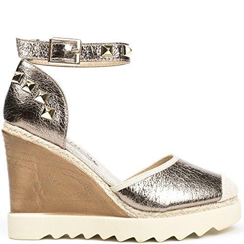Ideal Shoes, Damen Sandalen Bronze