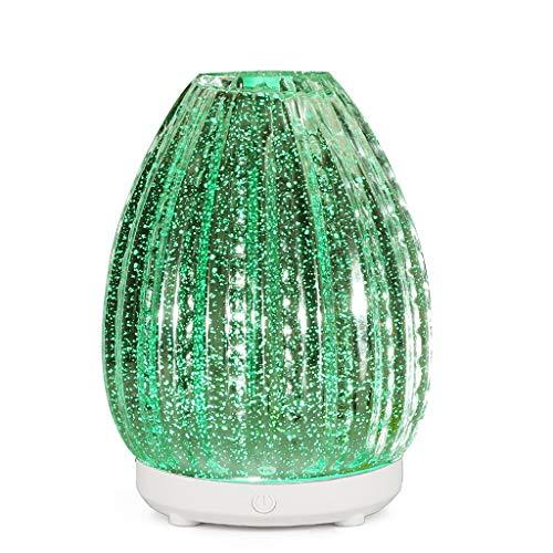 100Ml 3D Luftbefeuchter Glas Aroma Diffuser Duftöldiffusoren mit 7 Bunten LED-Lichtern füR Das Yoga-BüRo Zu Hause Regalo