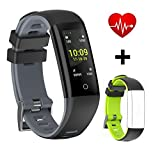 ASTARX Fitness Tracker Farbdisplay Schlaf-Monitor, Kalorienzähler,Anrufen/SMS