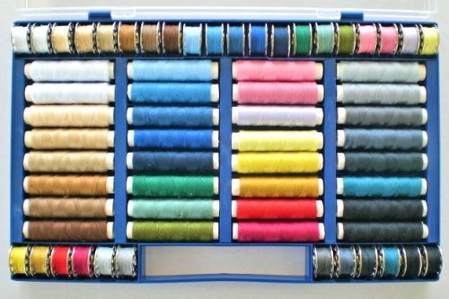 Sewing Thread Assortment Set 64 Items Synthetic Thread 100 % Polyester Sewing Machine Thread