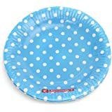 Untumble Polka Dot Blue plates Birthday party supplies Paper Plates (SET OF 20)