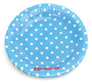 ... Polka dot paper plates  sc 1 st  Amazon.in & Untumble Polka Dot Blue plates Birthday party supplies Paper Plates ...