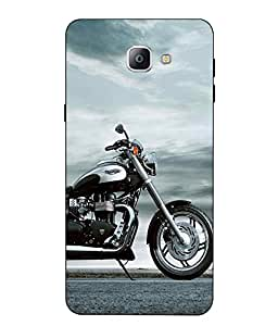 Case Cover Bike Printed Blue Soft Back Cover For SAMSUNG Galaxy A9 Pro