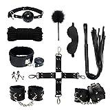 Paloqueth Sex Werkzeuge 10 Stück unter dem Bett Restraint System Slave S&M Fesseln Bondage Kit...