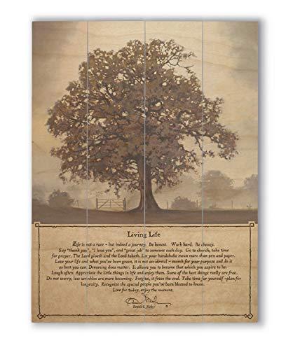 Wallsthatspeak Living Life Wandspruch, Holzpalettendekoration, rustikaler Bauernhaus-Druck, 30,5 x 40,6 cm - Herren Der Kirche Passt