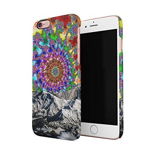 Colourful Trippy Space Swirl Mountains Dünne Rückschale aus Hartplastik für iPhone 6 & iPhone 6s Handy Hülle Schutzhülle Slim Fit Case - I Case Phone Pot 6