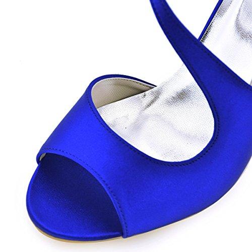 Sandali Di Cinghia Nuziale Diamante Btide Sfera Blu Caviglia Della Raso Aperta Donne Hp1505 Scarpe Elegantpark Della Di A Punta PYwzYH