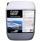 ABACUS CLEAN Drop 5 Liter (1428.5) - Schiffsrumpfreiniger GFK-Reiniger Gelcoat-Reiniger Wasserpass-Reiniger Bootsreiniger Rumpfreinger Muschelkalk Rost Oxidschichten und Vergilbungs-Entferner
