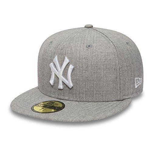 New Era 59fifty cap en el Bundle con UD PAÑUELO New York Yankees - Sudadera Gris/blanco, 7 1/8-56,8