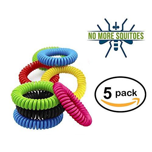 Pulsera repelente de mosquitos  insectos  natural  impermeable  para muñeca o pelo  para uso en exterior  libre de DEET  protección de hasta 300 horas