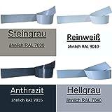 5 Stück Sichtschutzstreifen für Doppelstabmattenzaun alle Farben (Anthrazit RAL 7016)