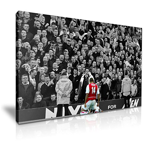 Thierry Henry Goal Arsenal V Spurs Football Icon stampa su tela 76 cm x 50 cm