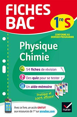 Fiches bac Physique-Chimie 1re S: fiches de révision d'occasion  Livré partout en Belgique
