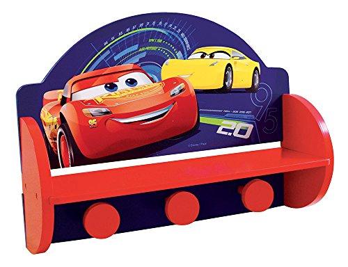 Fun house 712760, cars, libreria porta cappotto per bambini, 46x 33x 15cm