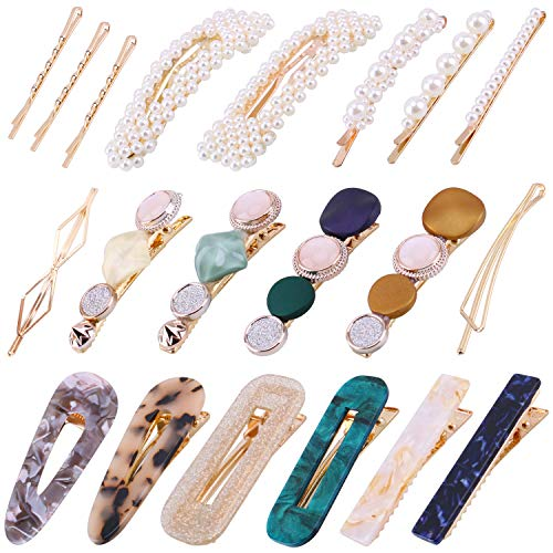 20Pcs Pearl Hair Clips - Fashion...