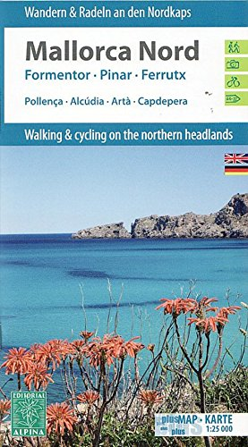 Mallorca Nord Hiking + Cycling Map + Guide 2014 1 : 25 000: 2 Karten