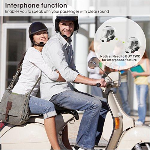 Avantree WASSERFESTES Motorradhelm Bluetooth Intercom Headset mit Mikrofon für Motorräder Fahrer, Motorrad Kopfhörer für Freisprechanlage Anrufe, GPS (TOMTOM, Garmin Zumo Navigation), Musik - 2