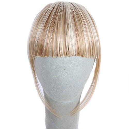 Waselia - perücken lace front günstig, perücken blond mit pony, perücken günstig blond glatt pony, perücken damen HübscheMädchen Clip auf Clip In Front Hair Bang Fringe Hair Extension Piece