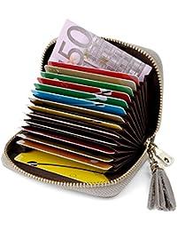Tarjeteros Mujer Piel Tarjeteros para Tarjetas de Credito Tarjeteros Mujer Tarjetas Credito, Carteras de Mujer RFID Cuero