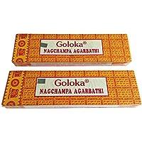 Goloka 2x 100g (200g) Nag Champa Goloka Räucherstäbchen, Feinstes Masala (75-85Stäbchen pro Box) preisvergleich bei billige-tabletten.eu