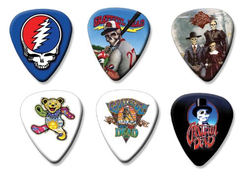 Grateful Dead Set of 6 Loose Gitarre Plektrum Plektron Picks ( Collection A ) (Gitarren Pick Grateful Dead)