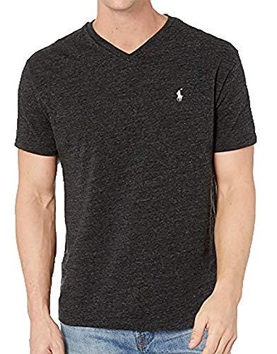 Polo Ralph Lauren Herren T-Shirt V-Ausschnitt Classic Fit - Schwarz - Groß -