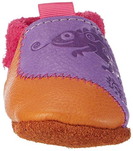 Pololo Unisex Baby Chamäleon Krabbel-& Hausschuhe Violett (Lila/Indiansummer)