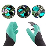 Hackneyed Garden Gloves With Claws For Digging & Planting - Unisex - One