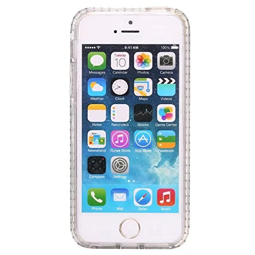 EKINHUI Case Cover Bling Sparkle Glitter Rhinestone Resin Diamant Schützende Rückseite Cover Case Soft TPU Shell Stoßfänger [Shock Absorbtion] für iPhone 5s & SE ( Color : F ) C
