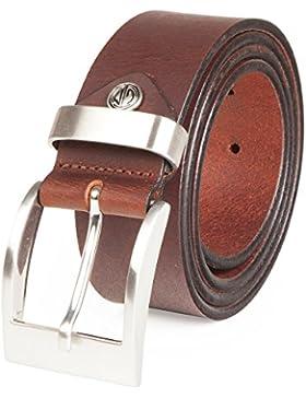 LINDENMANN- Hombre cinturón de cuero / cinturones hombres mann