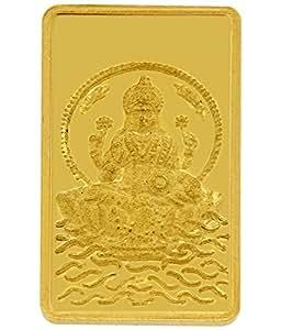 TBZ - The Original 1 gm, 24k(999) Yellow Gold Laxmi Precious Coin