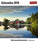 Schweden - Kalender 2018: Sehnsuchtskalender, 53 Postkarten