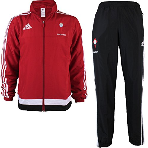 adidas Herren Trainingsanzug Celta PRE SUIT, Rot/Weiβ, M, 4055338704034