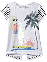 Poppers By Pantaloons Girls' Striped Regular Fit T-Shirt