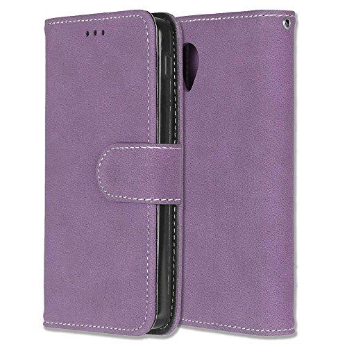 Mattierte Oberfläche solide Farbe horizontalen Flip Stand Case PU-Leder Tasche Cover mit Wallet-Funktion Kartensteckplätze für LG Google Nexus 5 E980 D820 ( Color : 6 ) 8