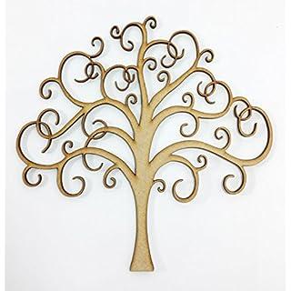 Laser Cut Swirly Fairy Tree - MDF Craft and Art Centrepiece