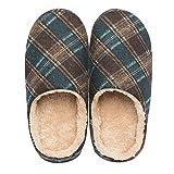 Kenroll Pantofole in feltro da Uomo Invernali (8.5-9 UK/44-45 EU, Blu scuro (Uomo))