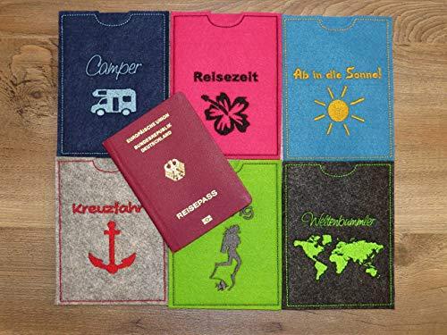Reisepass Hülle - Reisepasshülle - Reisepass - Urlaub - Reisen