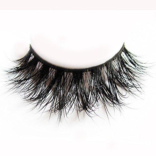 34 Modell 3D 100% Handgefertigte Künstliche Wimpern Dickes Augen Lashes Falsche Wimpern D008 (Schwarze Kanten Seide)