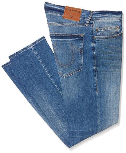 True Religion Herren Jeans mit Schmaler Passform (Slim) Rocco Short Leg, Blue (Denim Lapis), 33W x Regulär