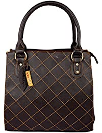 Spice Art Leatherite Handbag (Brown)